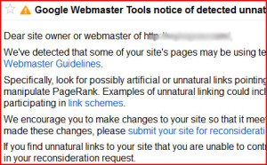 Google Link warning - 99MediaLab