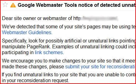 Google Link warning - 99MediaLab