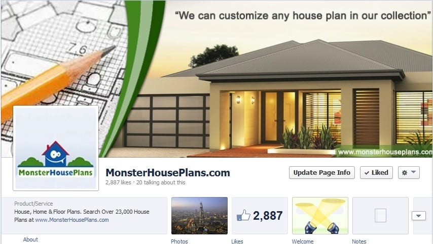 Social Media Marketing Case Study Online House Plans Company