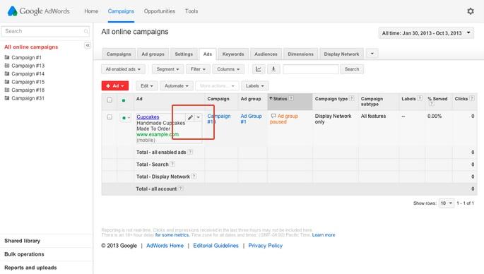 google adwords ad copy