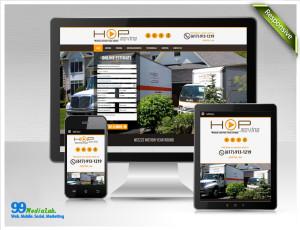 hop moving website design case study