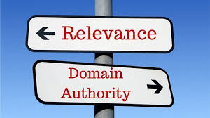 relevance + domain authority