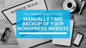 wordpress manual backup