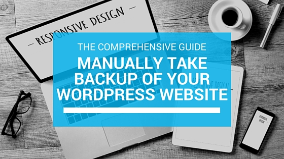 wordpress manual backup
