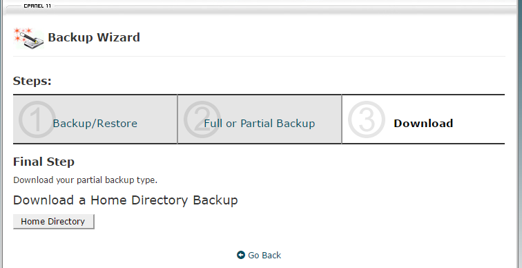 wordpress backup manual