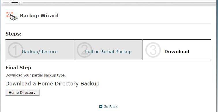 wordpress backup manual