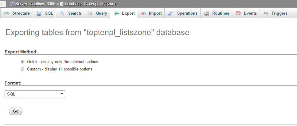 database backup wordpress