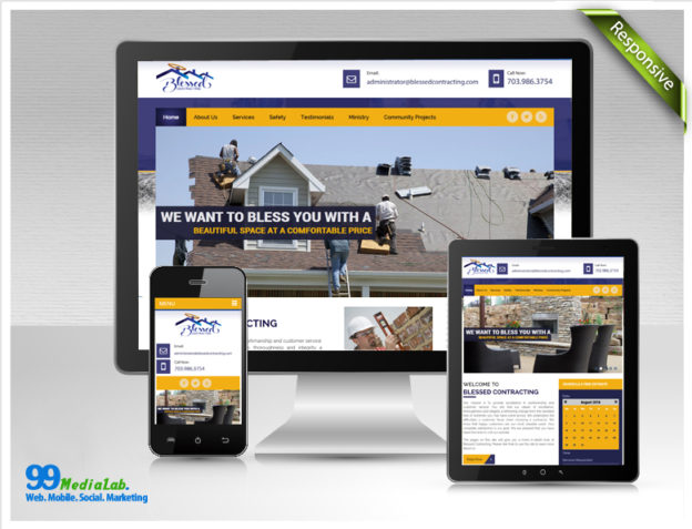 construction website case study