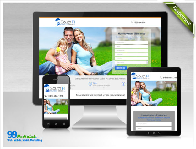 insurance company web design