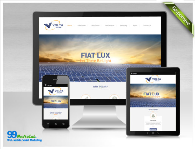 solar company website design