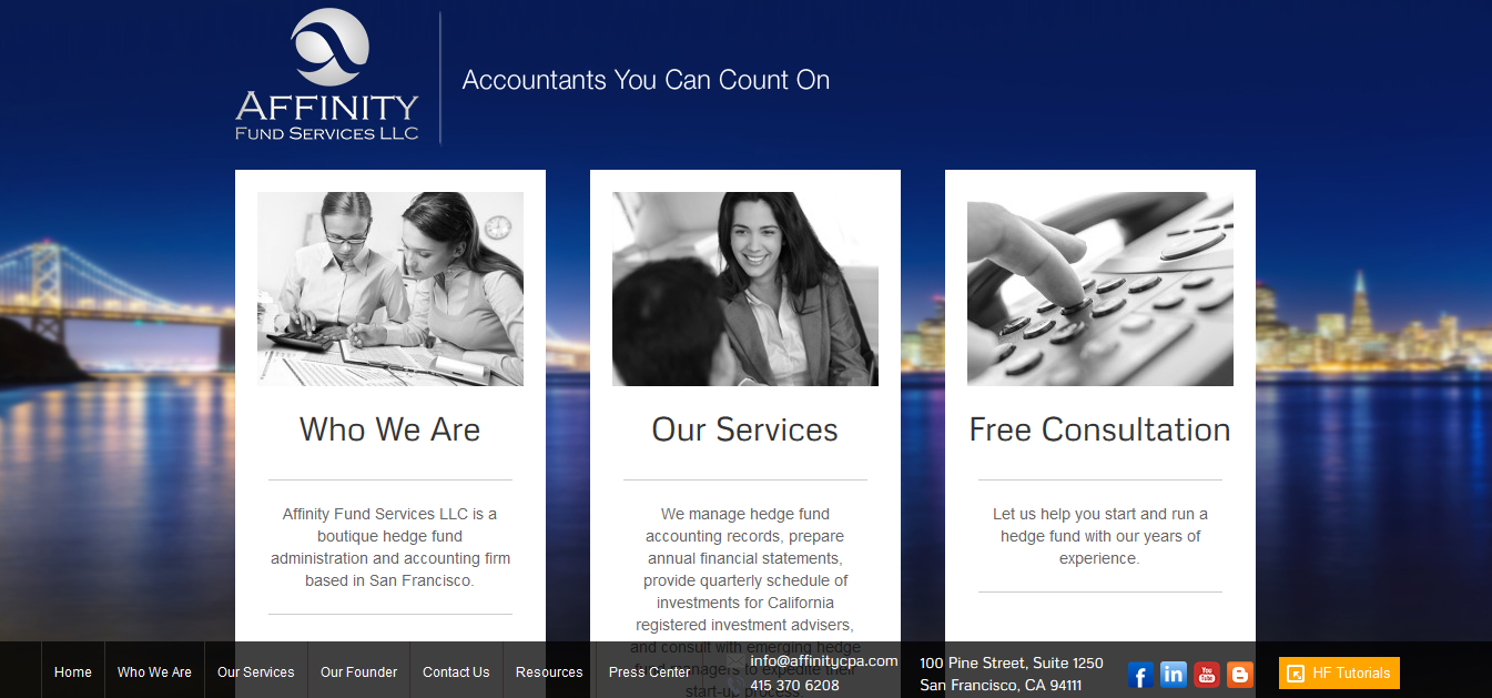 case study of CPA web design