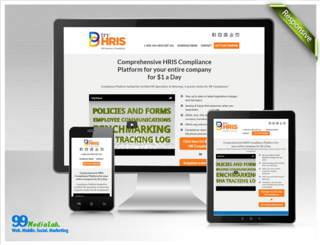 tryhris website design