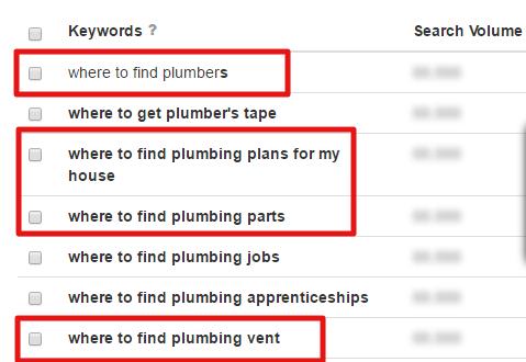 plumbing search