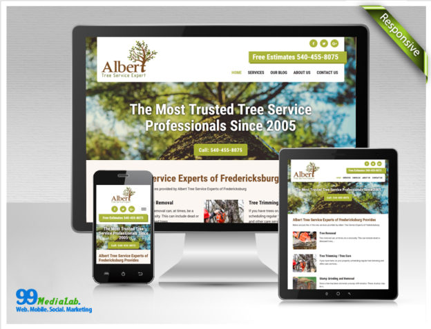 tree service website design