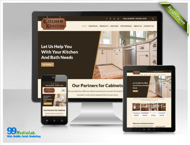 kitchen krafters website design