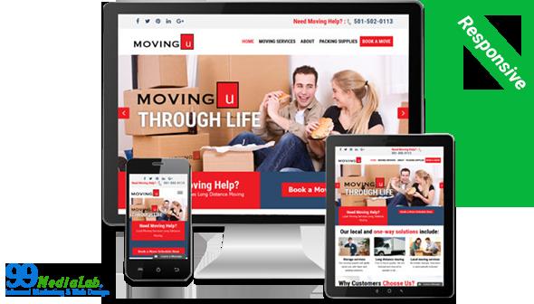 moving website design