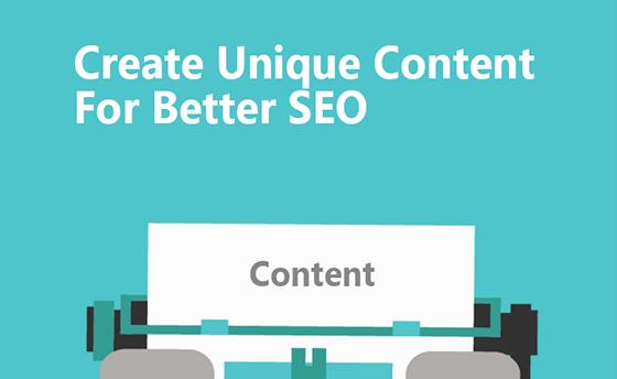 local seo create unique content