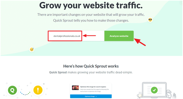 interactive content - Quick Sprout snapshot
