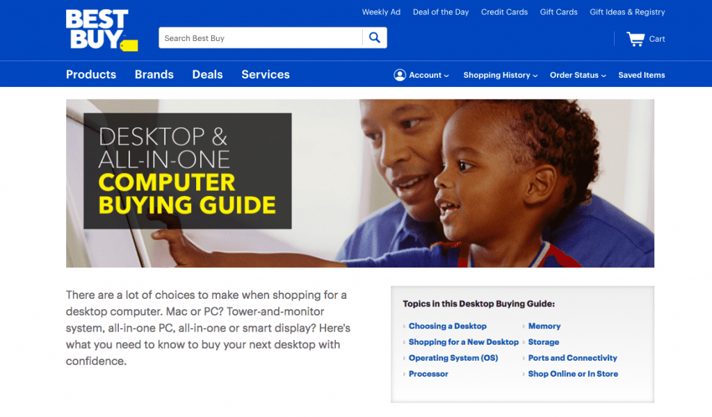 Best Buy uses content marketing to drive ecommerce traffic