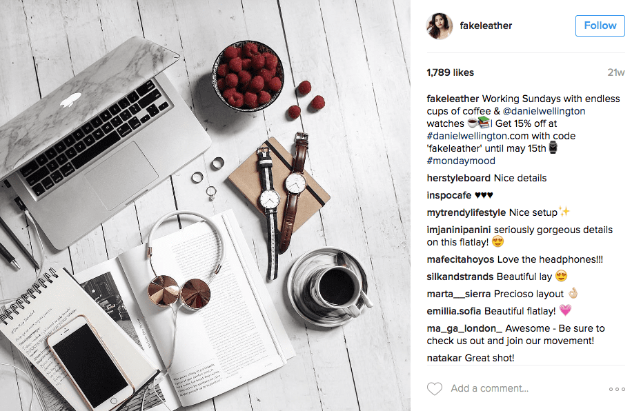 Daniel Wellington influencer marketing