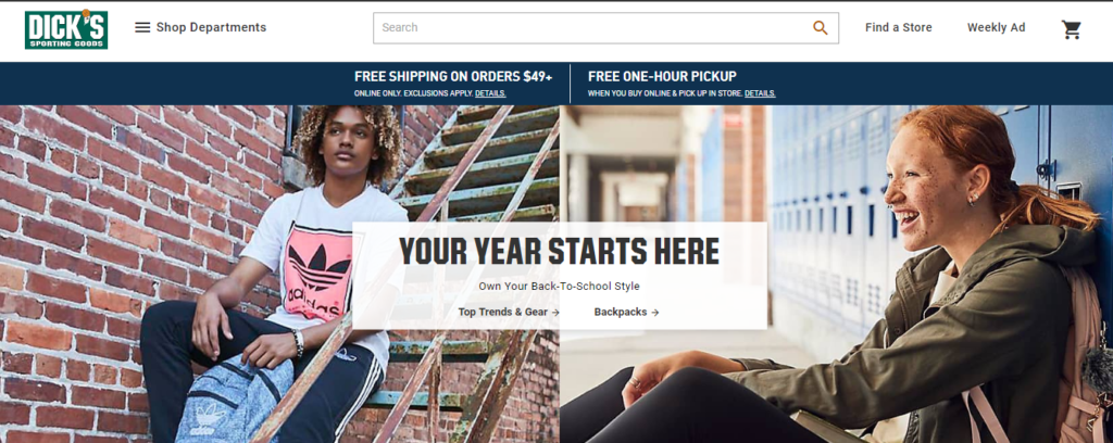 Dick's Sporting Goods free shipping offer