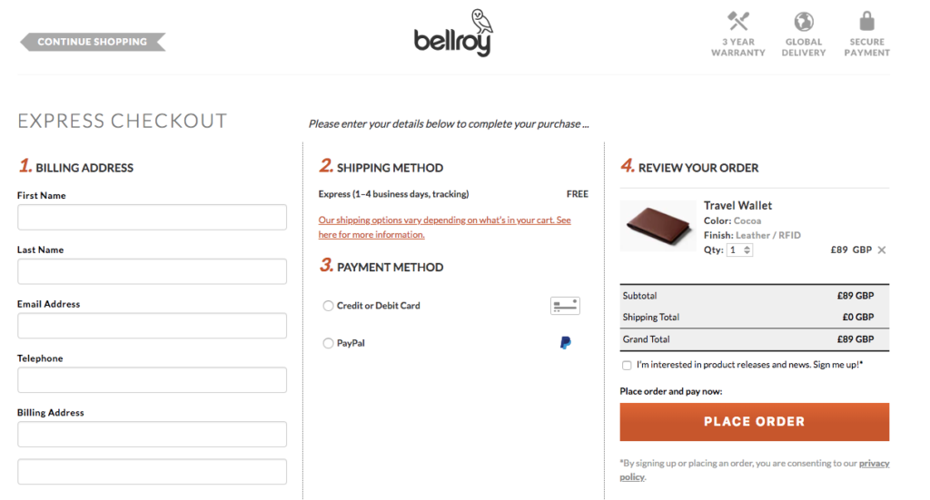 Reducing distractions during checkout improves ecommerce conversion rate